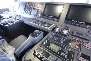 Kontrol navigasi pada anajungan.