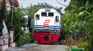 kereta yang melewati perumahan (1)