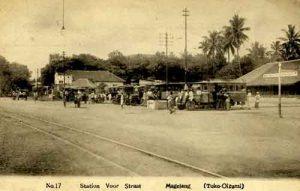 Jalur KA di Magelang tahun 1910.