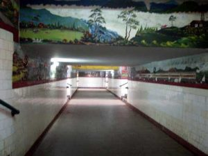 Akses terowongan.