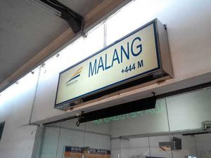 Stasiun Malang berada di ketinggian 444 meter diatas permukaan laut.