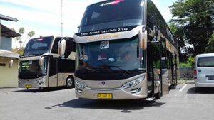 Bus tingkat AKAP PO Nusantara. (Foto: Tribunsolo)