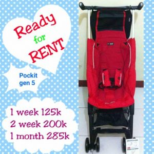 ilustrasi penyewaan stroller dengan harga. sumber: OLX