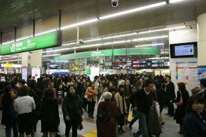 Kepadatan Penumpang di Stasiun Shinjuku