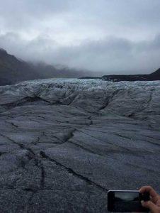 Hasil jepretan kamera di Svínafellsjökull.